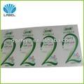 diseño personalizado de impresión adhesivo a prueba de agua champús etiqueta de la etiqueta