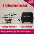Juguete del rc helicóptero baratos 3.5 canales aeroplano del rc
