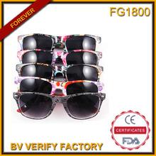 Venta al por mayor fg1800 logotipo personalizado gafas de sol, la promoción de la ópera de vasos