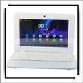 """China 2014 8gb más barato de la computadora portátil 10"""" via8880 de doble núcleo de nuevo androide netbook portátil blanco"""