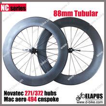 Ruedas de bicicleta de carretera de carbono tubulares de 88 mm
