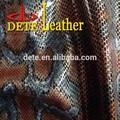 hot venda raw pele falsa de cobra couro sintético