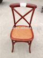 venta caliente populares cojines de ratán marco de madera de la cruz sillas de respaldo