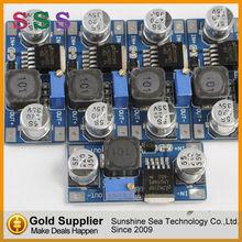 Módulo de potencia de dc-dc convertidor buck paso hacia abajo lm2596s lm2596s-adj módulo amplificador de potencia