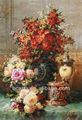 El último diseño de alta calidad de la mano de puro- pintado jarrón antiguo pintura de la flor