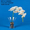 blanco solo tallo artificiales flor de la orquídea