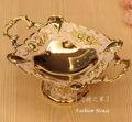 luxo de qualidade da liga de moda pequenas frutas placa decoração real secas fruta decoração prato