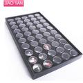 #3106 frete grátis 50 pote de Unhas preto bandeja decoração vitrine de exibição Mostrar caixa