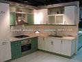 Calidad Alta Moderno Nuevo Gabinetes de Cocina Diseño Madera Sólida Popular