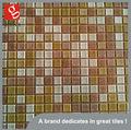 Mosaico de vidrio de color amarillo la piscina del azulejo del mosaico