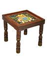 Elefante indio mesa de café, venta al por mayor mesa de café, pintado a mano mesa de café