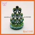 ebay china faceted green crystal ring calidad alta anillos en forma de corona venta al por mayor del alibaba