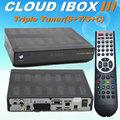 Libre de iptv, web tv nube ibox 3 500 mhz cpu dvb-s/s2+t2/c con sintonizador de nube ibox 2
