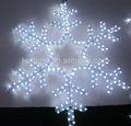 2014 decoración de navidad los copos de nieve blanco con motivos de luz, copo de nieve efecto de luz