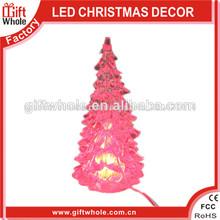 """Las ventas 2014 del árbol 5"""" colorido del hight rohs& ce mini árbol de navidad de iluminación"""