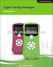 El último 2014 digital masajeador masajeador trabajo terapéutico, de doble salida de masaje portátil