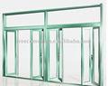 Ventana abatible de aluminio durable hace en China con precio de fábrica.