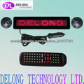 12V 500mA 32*5*1cm 7X40pixel led car sign with Spanish,French,English,etc.