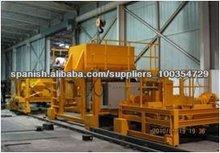 equipo de fabricación hormigón durmiente de ferrocarril