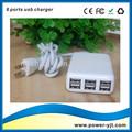 Newest design 6 port usb charger for mobile phones