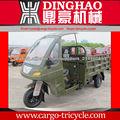 Dinghao pesada carga de carga de tres ruedas con cabina / cabina moto triciclo