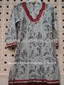 Blusas niñas& tops tejidos de algodón estampado hecho jaipur desgaste indio étnico con brocades& blusa de la parte superior