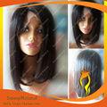 Natural black brasileira laço do cabelo humano da peruca curta duração/comprimento médio peruca bob
