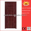 MDF puerta de madera con vidrio SC-P018