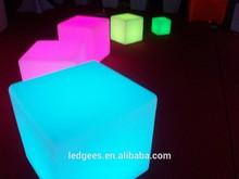 muebles de led que cambia de color la luz silla a prueba de agua llevó cubo silla de iluminación