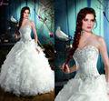 balón vestido de novia sin tirantes piso de longitud tafetán y organza vestido de novia 2013 LY-009