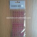 De promoción lindo& hermoso lindo de acrílico/alfabeto rhinestone pegatinas