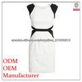 vestido blanco y negro color block moda mujer