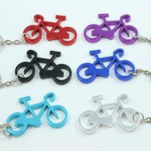 especial muchos colores a elegir de encargo el logotipo con láser de aluminio de bicicletas de metal llavero