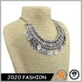 Vintage collares de la joyería étnica talla carta de flores de oro ronda/moneda de plata borlas gargantilla de collares