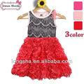 Proveedor de china baratos niña vestido de verano 100% algodón hinchada angel kids moda vestidos de imágenes