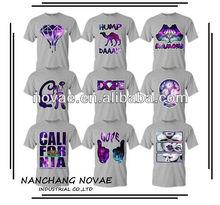 Todo el estilo t- shirt de california para mujer señoras nuevo estilo de vestido de camisa