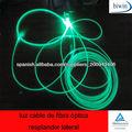 luz cable de fibra óptica resplandor lateral