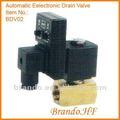corpo de bronze normalmente colse temporizador eletrônico automático de drenagem da válvula solenóide para compressor de ar