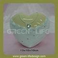 la forma del corazón de cerámica de la boda de adorno