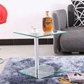 Baratos de ocio mesas/tamaño pequeño ronda de café de cristal tabla/mesa final