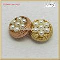 jean43145 de metal de moda los pantalones vaqueros con botones de perlas
