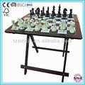 mesa de ajedrez el ajedrez en antigua mesa de diseño plegable para mesas de ajedrez