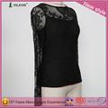 gancho de encaje de flores de huecos de manga larga elegante casual para damas camisas de cuadros