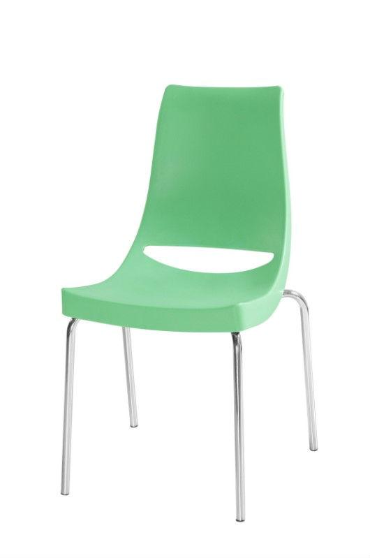 Pl sticas sillas apilables con patas met licas cromadas for Sillas modernas precios