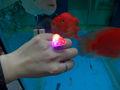 Red heaet intermitente anillo de la mano para la decoración