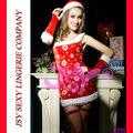 whoelsale sexy ropa interior de navidad santa claus traje