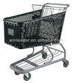 de plástico carrito de compra, para el supermercado 180 litros