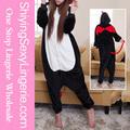nuevo diseño de venta al por mayor negro mal bodies de dibujos animados animal traje de pijama