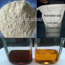 arcilla activada para refinar aceite mineral residuos