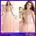 Bola vestido de ver através de nude sexy-de-rosa tule cor comprimento do assoalho amor para sempre vestido de noite